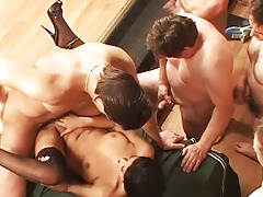 This Slut Gets drilled like a Whore by 50 men in Gangbang